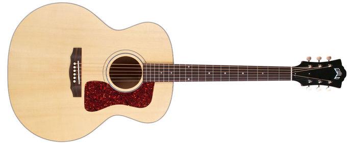 """Kytara tvaru """"Jumbo""""."""