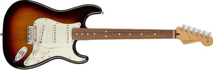 """Elektrická kytara typu """"Stratocaster""""."""